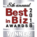 8th annual Best in Biz Awards Winner 2018
