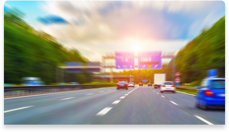 Blurred photo of cars traveling on the highway
