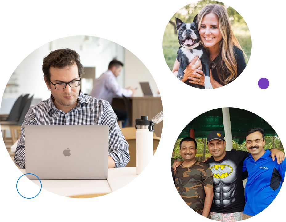 three images of SailPoint employees